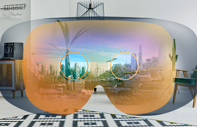 View of the future through VR headset