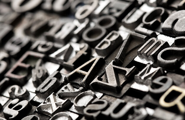 typeface letters printer