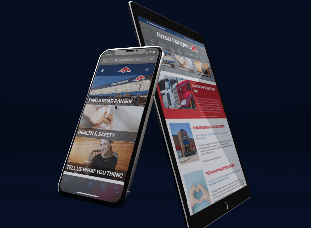 Trekk Road Ranger Website Phone and Tablet Screens