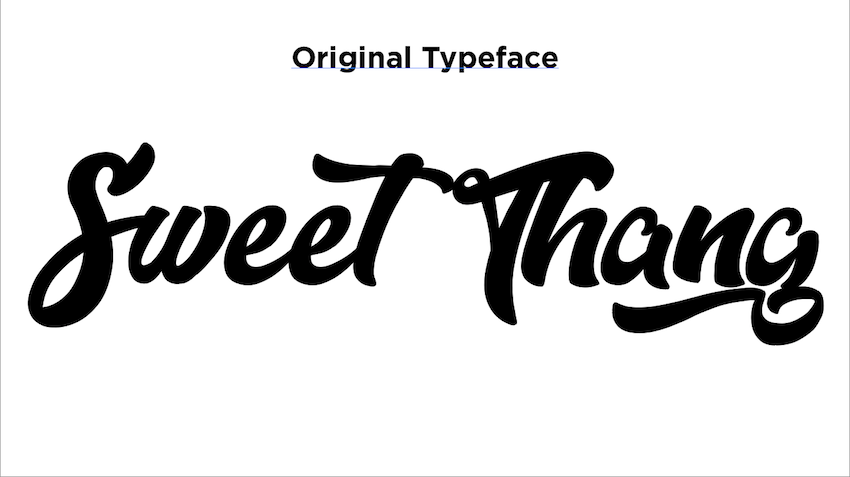original typeface for Sweet Thang video