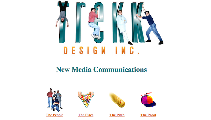 First Trekk website from 1995