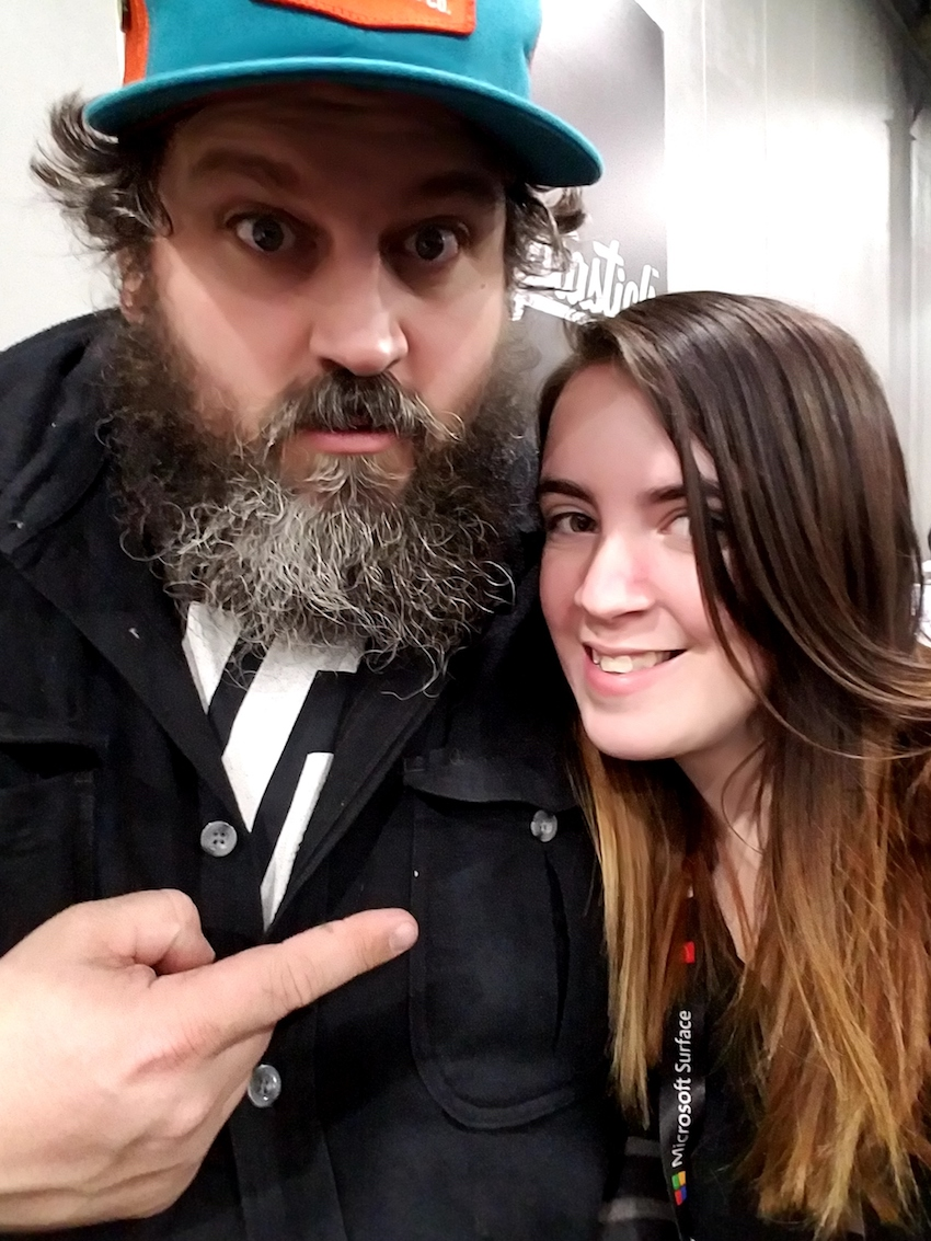 Michaela with Aaron Draplin
