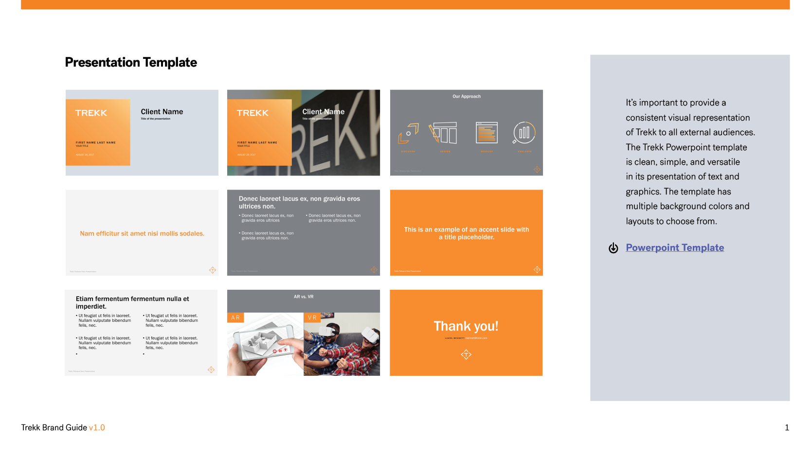 Trekk Brand Guide Presentation Template
