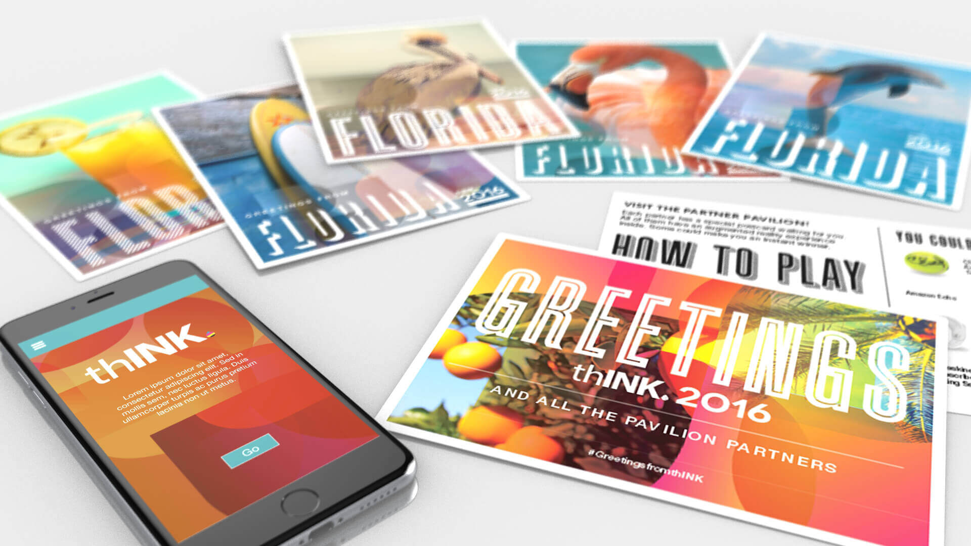 thINK mobile app and postcards
